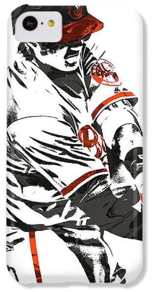 Oriole iPhone 5c Case - Manny Machado Baltimore Orioles Pixel Art by Joe Hamilton