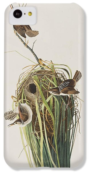 Marsh Wren  IPhone 5c Case by John James Audubon