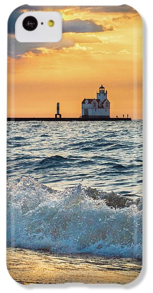 IPhone 5c Case featuring the photograph Morning Dance On The Beach by Bill Pevlor