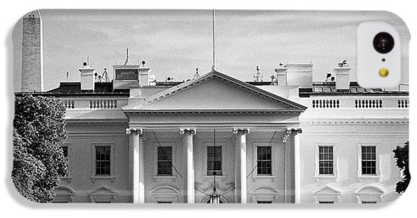Whitehouse iPhone 5c Case - north facade from pennsylvania avenue the white house with washington monument in the background Was by Joe Fox