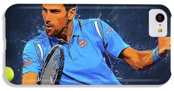 Novak Djokovic IPhone 5c Case by Semih Yurdabak