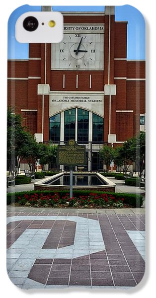Oklahoma Memorial Stadium IPhone 5c Case by Center For Teaching Excellence