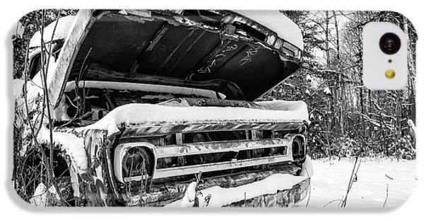 iPhone 5c Case - Old Abandoned Pickup Truck In The Snow by Edward Fielding