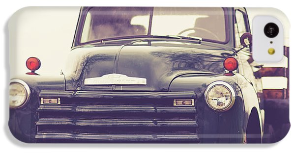 iPhone 5c Case - Old Chevy Farm Truck In Vermont Square by Edward Fielding