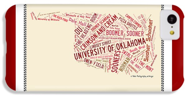 Ou Word Art University Of Oklahoma IPhone 5c Case