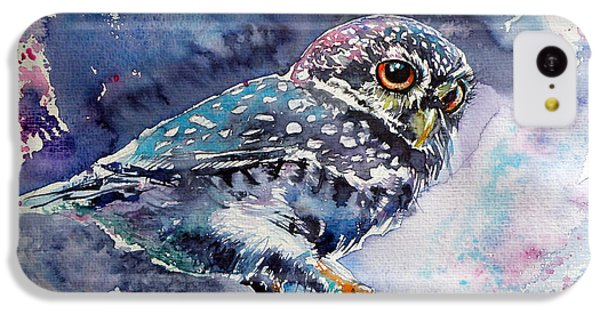 Owl At Night IPhone 5c Case by Kovacs Anna Brigitta