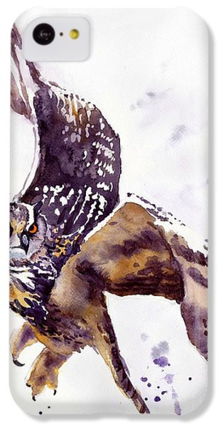 Falcon iPhone 5c Case - Owl Watercolor by Suzann's Art