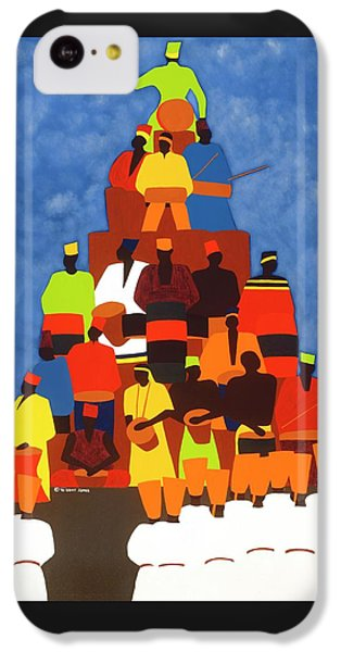 iPhone 5c Case - Pyramid Of African Drummers by Synthia SAINT JAMES