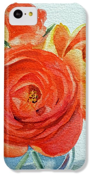 Rose iPhone 5c Case - Ranunculus by Irina Sztukowski