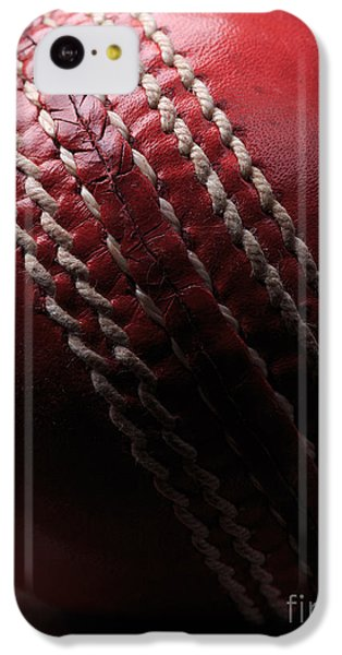 Cricket iPhone 5c Case - Red Cricket Ball by Edward Fielding