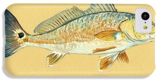 Miami iPhone 5c Case - Redfish Painting by Juan  Bosco