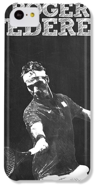 Roger Federer IPhone 5c Case by Semih Yurdabak