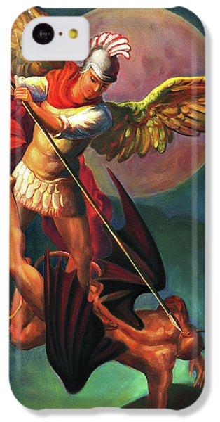 iPhone 5c Case - Saint Michael The Warrior Archangel by Svitozar Nenyuk