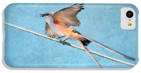 Scissor-tailed Flycatcher IPhone 5c Case by Betty LaRue