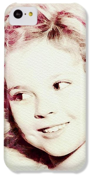 Shirley Temple iPhone 5c Case - Shirley Temple, Vintage Actress by John Springfield