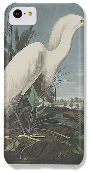 Ibis iPhone 5c Case - Snowy Heron Or White Egret by Dreyer Wildlife Print Collections