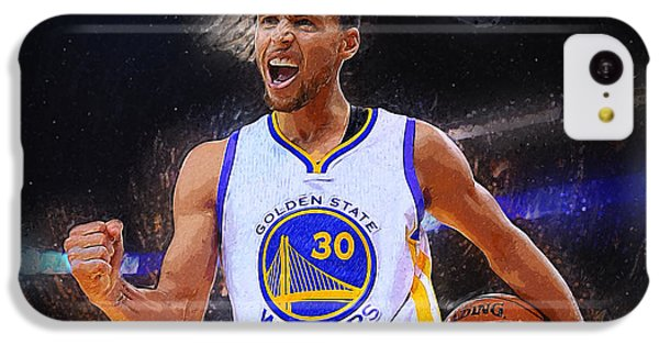 Lebron James iPhone 5c Case - Stephen Curry by Semih Yurdabak