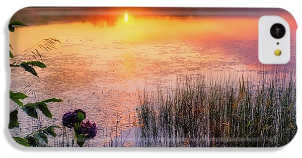 IPhone 5c Case featuring the photograph Summer Sunrise Square by Bill Wakeley