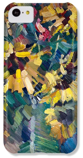 Flowers iPhone 5c Case - Sunflowers by Nikolay Malafeev