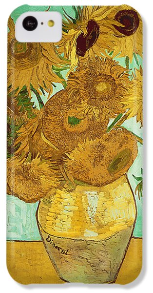 Sunflower iPhone 5c Case - Sunflowers By Van Gogh by Vincent Van Gogh