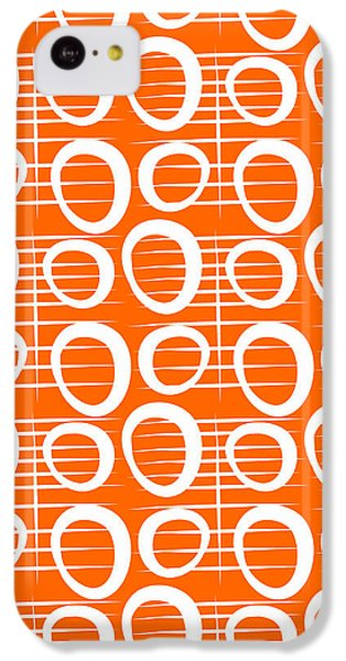 Tangerine Loop IPhone 5c Case by Linda Woods