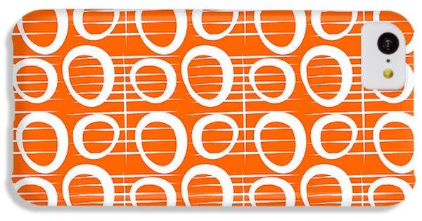 Orange iPhone 5c Case - Tangerine Loop by Linda Woods