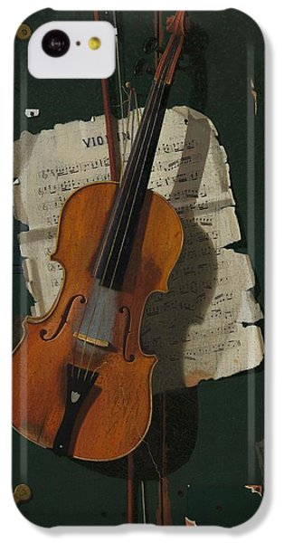 Violin iPhone 5c Case - The Old Violin by Mountain Dreams