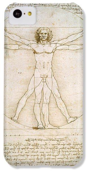 Nudes iPhone 5c Case - The Proportions Of The Human Figure by Leonardo da Vinci