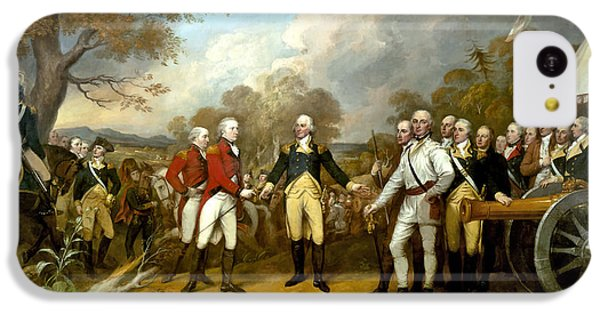 Landmarks iPhone 5c Case - The Surrender Of General Burgoyne by War Is Hell Store