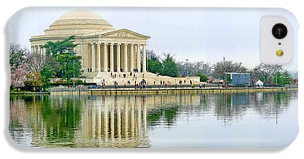 Jefferson Memorial iPhone 5c Case - Tidal Basin With Cherry Blossoms by Jack Schultz