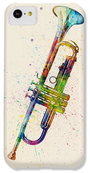 Trumpet iPhone 5c Case - Trumpet Abstract Watercolor by Michael Tompsett