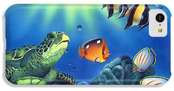 Turtle Dreams IPhone 5c Case by Angie Hamlin