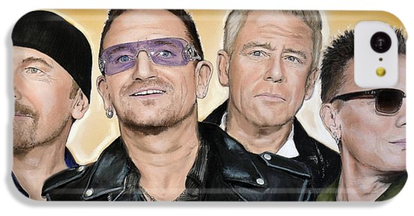 Bono iPhone 5c Case - U2 Band by Melanie D