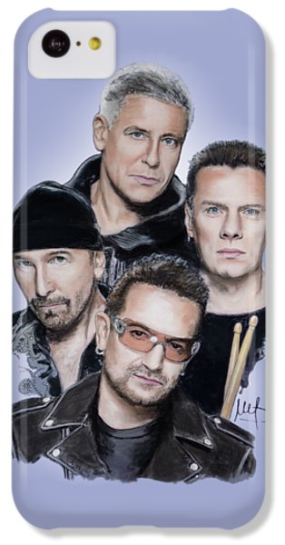 Bono iPhone 5c Case - U2 by Melanie D