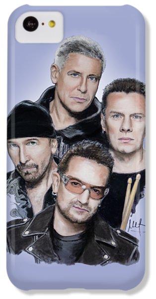 U2 IPhone 5c Case by Melanie D
