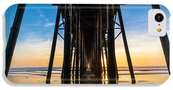 Ocean Sunset iPhone 5c Case - Under The Oceanside Pier by Larry Marshall