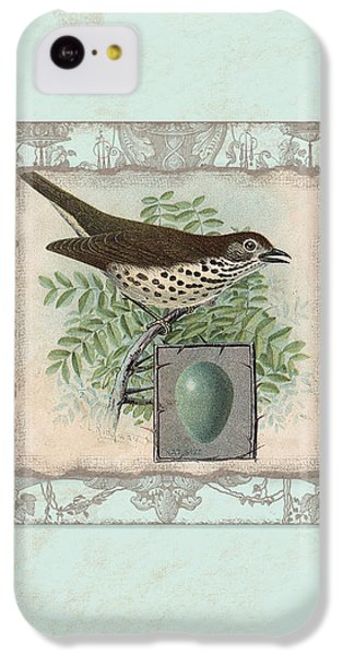 Welcome To Our Nest - Vintage Bird W Egg IPhone 5c Case by Audrey Jeanne Roberts