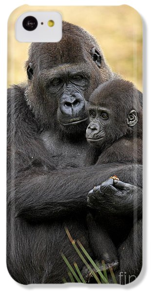 Western Gorilla And Young IPhone 5c Case by Jurgen & Christine Sohns/FLPA