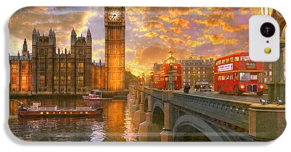Pigeon iPhone 5c Case - Westminster Sunset by Dominic Davison