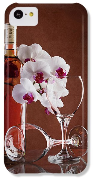 Orchid iPhone 5c Case - Wine And Orchids Still Life by Tom Mc Nemar