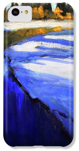 IPhone 5c Case featuring the painting Winter River by Nancy Merkle