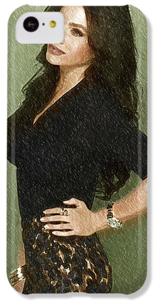 Shakira iPhone 5c Case - Celebrity Sofia Vergara  by Elizabeth Simon