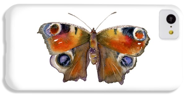 Peacock iPhone 5c Case - 10 Peacock Butterfly by Amy Kirkpatrick