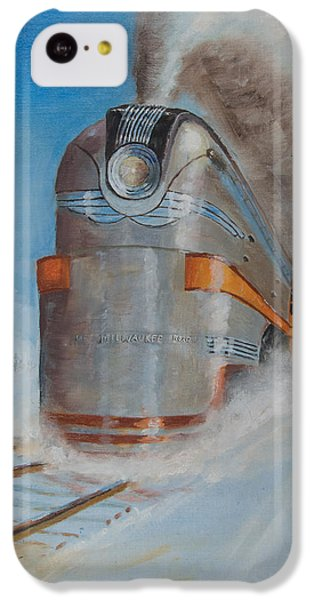 Train iPhone 5c Case - 104 Mph In The Snow by Christopher Jenkins