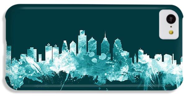 Philadelphia Pennsylvania Skyline IPhone 5c Case by Michael Tompsett