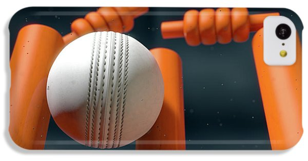 Cricket Ball Hitting Wickets IPhone 5c Case