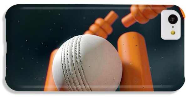 Cricket Ball Hitting Wickets IPhone 5c Case by Allan Swart
