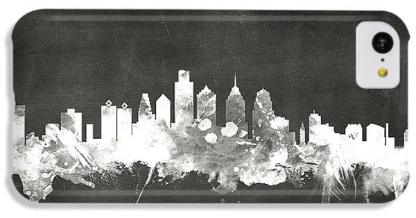 Philadelphia iPhone 5c Case - Philadelphia Pennsylvania Skyline by Michael Tompsett