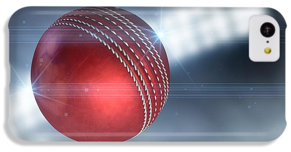 Cricket iPhone 5c Case - Ball Flying Through The Air by Allan Swart