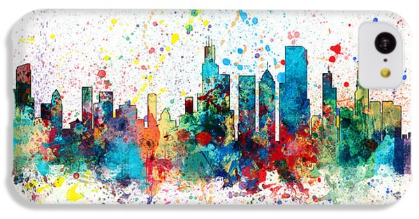Grant Park iPhone 5c Case - Chicago Illinois Skyline by Michael Tompsett